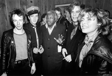 Topper Headon, Joe Strummer, Al Fields, David Johansen and Debbie Harry, NYC - 1979