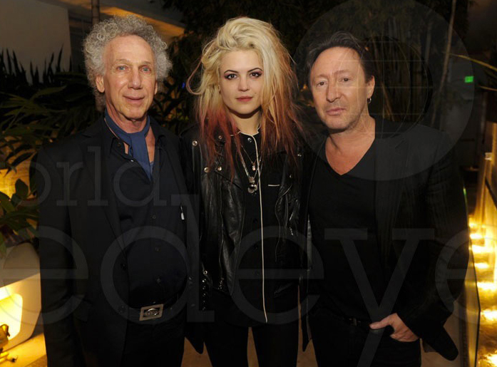 Dec 5 - Miami -Alison Mosshart and Julian Lennon join me for a photo before Alison and I started our guest DJ sets at the party Julian hosted for Morrison Hotel Gallery. Julian has been making some great photos and is now represented by Morrison.
