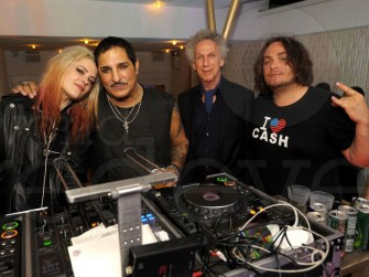 December 5 - Miami - In the DJ booth with Alison Mosshart, Nur Kahn, and DJ Cash getting ready to rock the house.