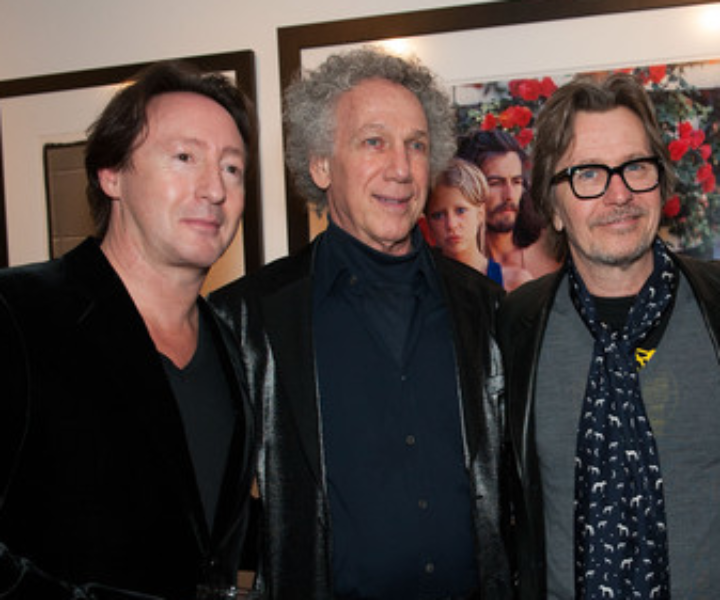 Feb 9 - Los Angeles - Julian Lennon had a party for an exhibition of his amazing photography at the new Morrison Hotel Gallery at the Sunset Marquis and I got to talk to Gary Oldman, one of my favorite actors.