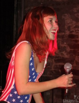 February 12th - New York - Laura Hajek was really great fun at the Bowery Electric show of her band, Edith Pop.