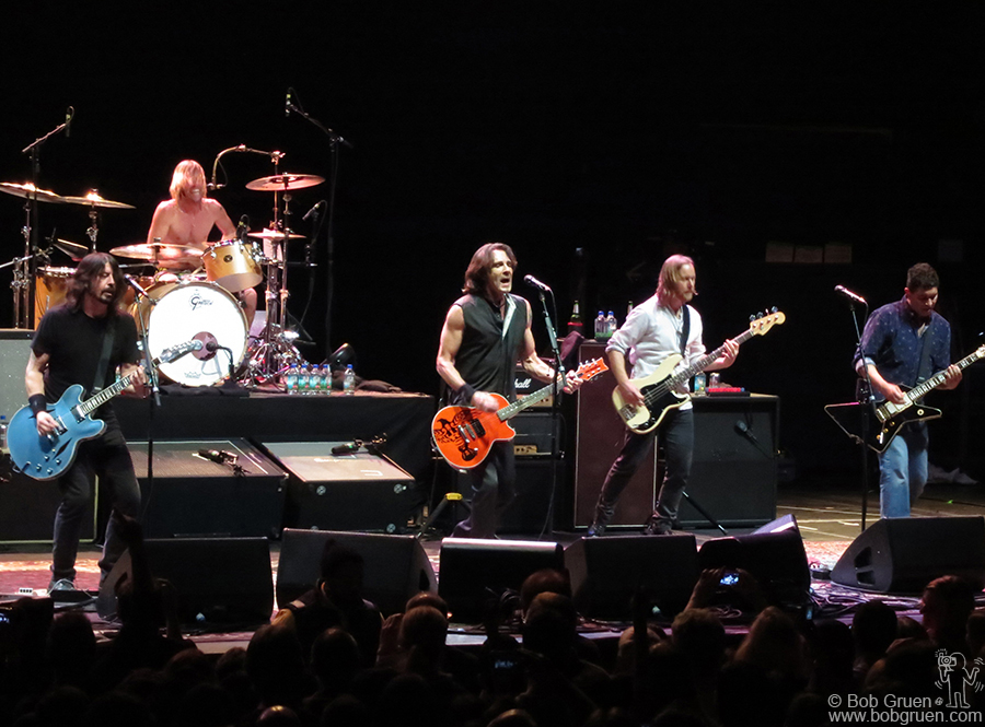 Feb 13 - NYC - Dave Grohl played with his band mates from Foo Fighters, with a guest appearance by Rick Springfield, at the Hammerstein Ballroom in a show promoting Dave's film 'Sound City'.