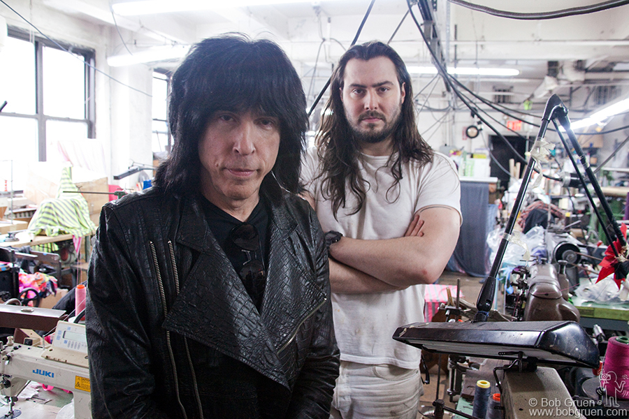 March 7 - NYC - I had a photo session with Marky Ramone and Andrew WK who are making plans to play and tour together.