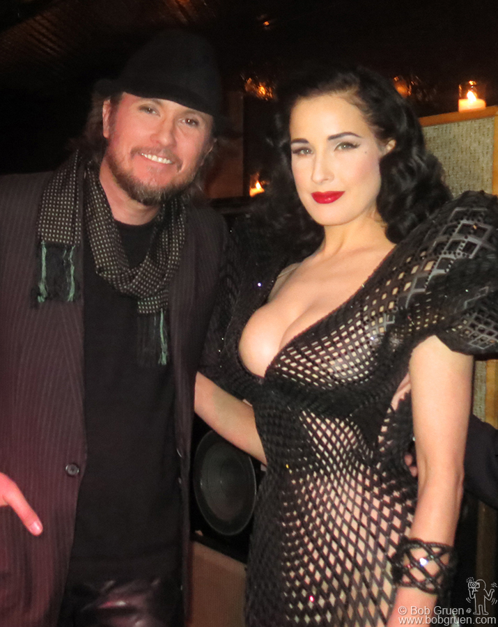 March 4 - NYC - Famous fashion designer Michael Schmidt made the worlds first 3D printed dress, worn by Dita Von Teese at the Ace Hotel.