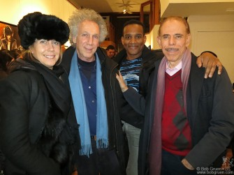 December 14 - New York - Elizabeth and I said hello to my old friend Peter Max at a reception for Rolling Stones artwork at the Broome Street Gallery.