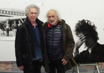 January 29 -New York - I met photographer Jerry Schatzberg at Griffin lab where we both get our prints made by Laurent Girand who took this photo of us with two of our most famous photos.
