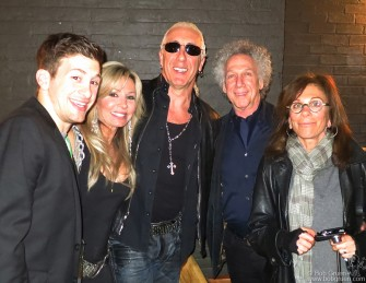 April 27 - New York - Dee Snider with his wife and son at the screening of Who Shot Rock & Roll with me and Lynn Goldsmith. Dee mentioned how he had been influenced by seeing photos of Alice Cooper, but had never seen him perform live.