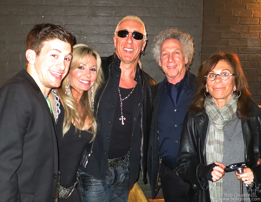 April 27 - NYC - Dee Snider with his wife and son at the screening of Who Shot Rock & Roll with me and Lynn Goldsmith. Dee mentioned how he had been influenced by seeing photos of Alice Cooper, but had never seen him perform live.