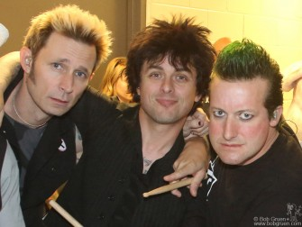 April 7 - Brooklyn - Green Day; Mike, Billie Joe and Tre look great backstage at the Barclays Center before the show.