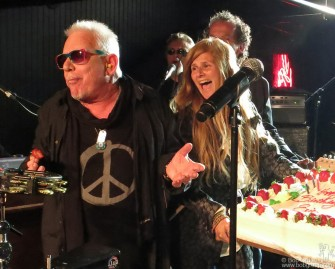 May 15 - New York- The John Varvatos store on the Bowery rocked again a few weeks after the Cheap Trick night with a high energy birthday party show by Eric Burdon.