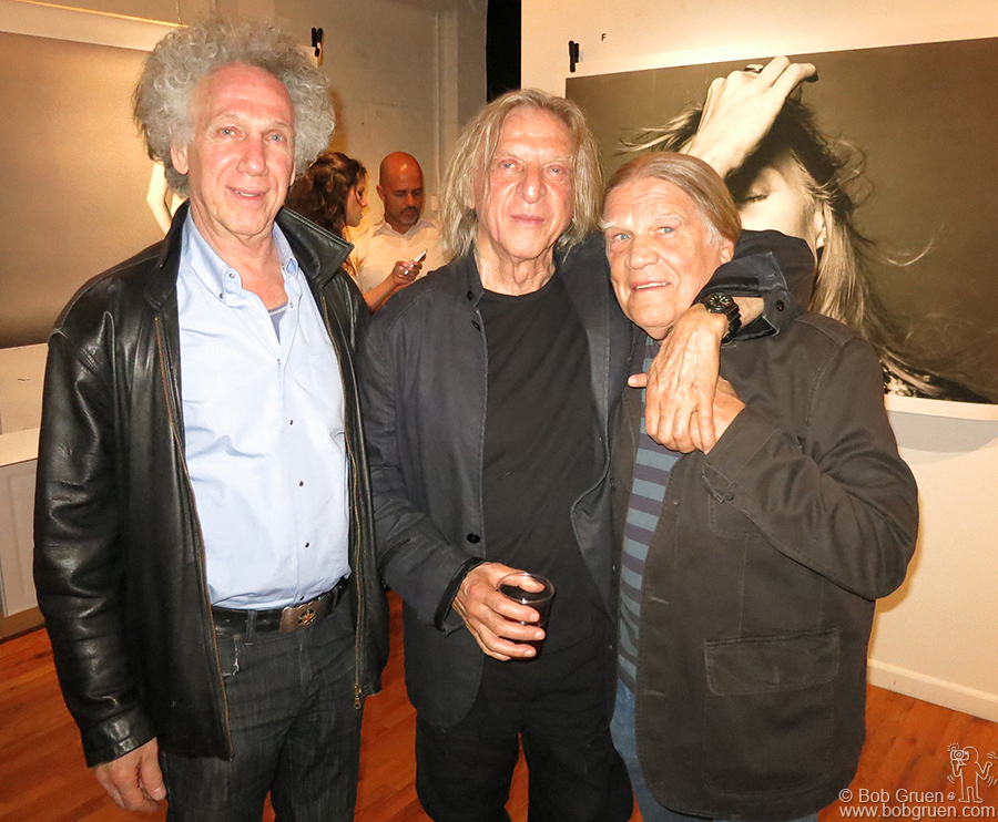 May 16 - NYC - Morrison Hotel Gallery hosted the first solo exhibition by famed photographer Norman Seeff. I joined Norman and Henry Diltz at the opening.