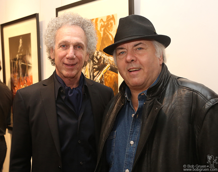 Jan 17 - - NYC - I was happy to see Gene Cornish of the Rascals at my opening on Broome Street. I used to see them perform on Long Island in the '60's, and they are taking a reunion show to Broadway!