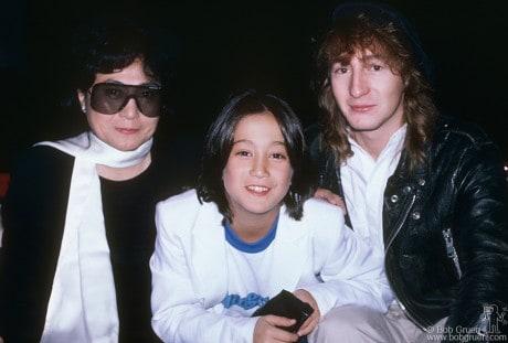 Yoko Ono, Sean Lennon & Julian Lennon, NYC - 1985