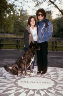 Yoko Ono and Sean Lennon, NYC - 1985