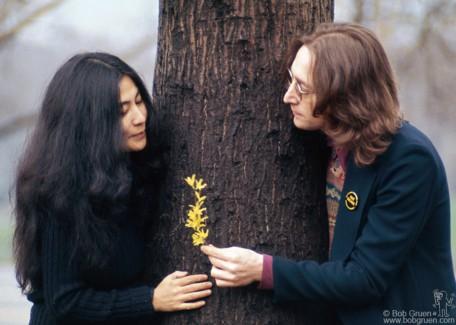 John Lennon and Yoko Ono, NYC - 1973