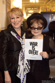 Yoko Ono and Bette Midler, Brooklyn - 2010