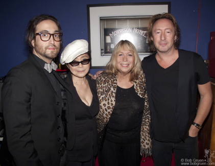 Yoko Ono, Sean Lennon, Cynthia Lennon and Julian Lennon, NYC - 2010