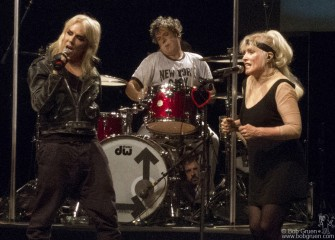 October 4 - Blondie's show at Roseland was a great success with a surprise appearance of their friend Miss Guy, joining Debbie to sing 'Rave', a song from the new Blondie album.