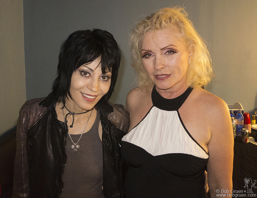 Joan Jett saw Blondie at Roseland and came backstage to catch up with Debbie Harry.
