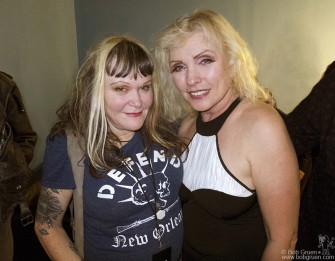 October 4 - Exene opened the Blondie show at Roseland with her band 'X' and then later said hi to Debbie Harry backstage.