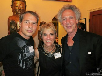 September 28 - Los Angeles - Shepard Fairey and I posed for a photo with my host Rona Elliot at the party she held in my honor.