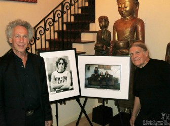 September 28 - Los Angeles - With photographer Henry Diltz at Rona's house with our most famous photos.