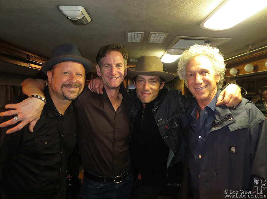 Octr 2 - NYC - With photographers Danny Clinch, Mark Seliger, and Jakob Dylan after the Wallflowers played at John Varvatos' store, in the space that had formerly been CBGB.