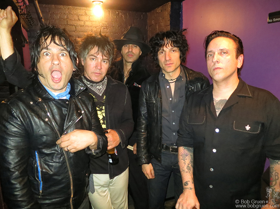 Oct 14 - NYC - Reunited D Generation took a break from their rehearsal before going to Los Angeles to record with Ryan Adams producing a new D Gen album, their first in 14 years.