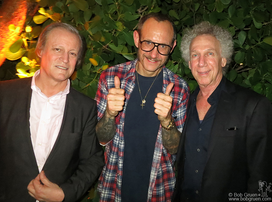 Dec 5 - Miami - With photographers Patrick McMullan and Terry Richardson at Terry's Art Basel party.