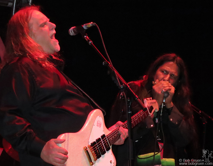 June 8 - Hunter Mountain - The highlight of Gov't Mule's set was when leader Warren Haynes brought on famed harmonica player Hook Herrera.