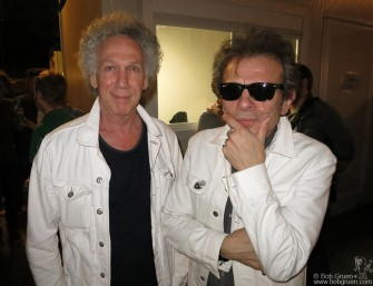 July 7- Paris - I visited with Rock & Folk magazine editor Philippe Manoeuvre in Paris and we both wore our white jackets, a good rock & roll summer look.