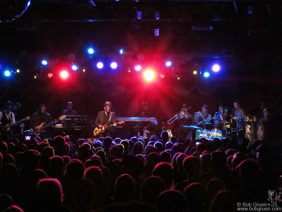September 16 - Brooklyn - Elvis Costello & The Roots debuted songs from their new album at Brooklyn Bowl, a very funky night for Elvis fans.
