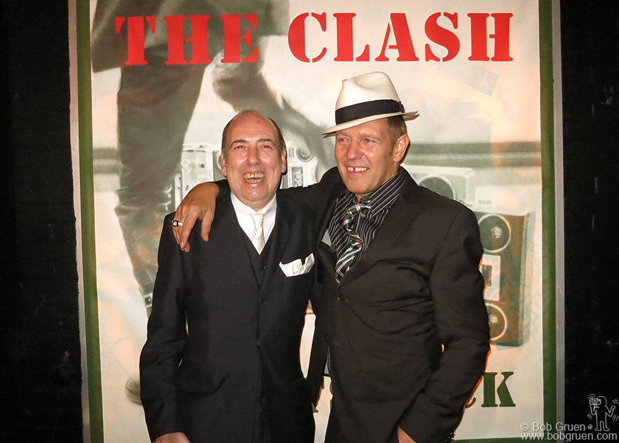 September 19 - NYC - Mick Jones and Paul Simonon came to New York to promote the new Clash Box set 'Sound System' at a press conference.