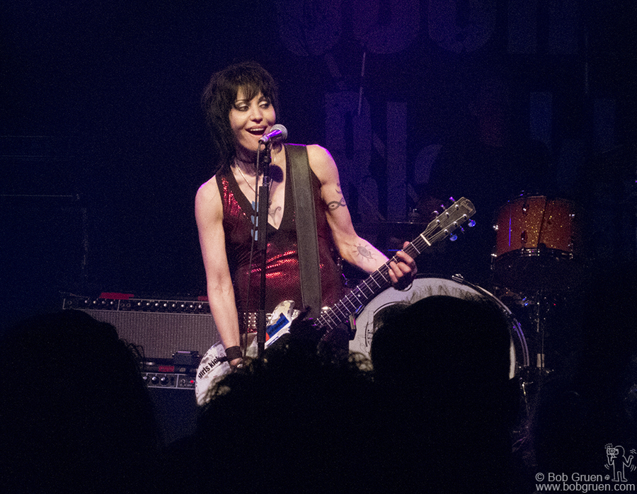 October 2 - NYC - Joan Jett played a rockin' set with new songs celebrating the release of her new album at Santos Party House.