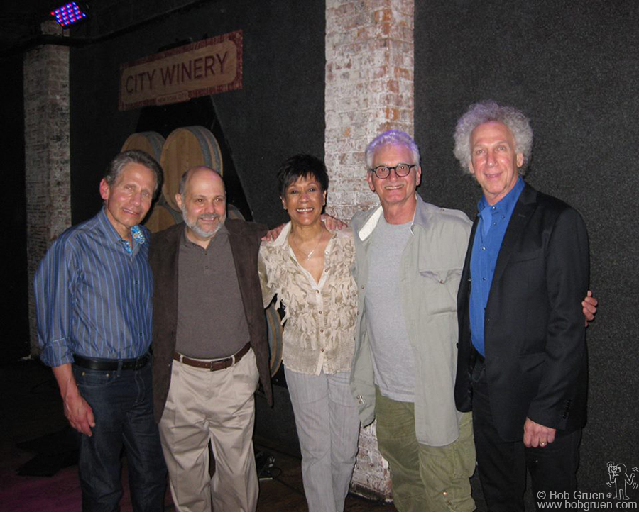 September 12 - NYC - At the City Winery with: (from left) Dennis Elsas, Joe Raiola, Bettye LaVette and Jack Douglas, for an evening of memories of John Lennon, raising funds to benefit the John Lennon Memorial concert series, now in it's 33rd year.