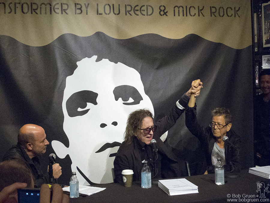 October 3 - NYC - John Varvatos interviewed Mick Rock & Lou Reed about their new limited edition book collaboration at the Bowery Varvatos store.