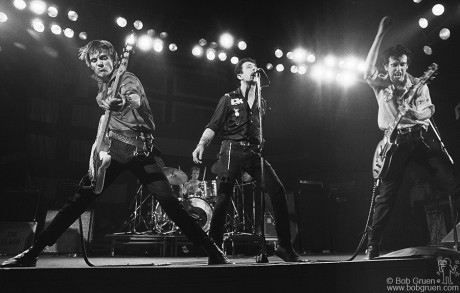 The Clash were a great, powerful live band and this shot captures that energy and excitement. I traveled with the Clash on their 1979 tour across the U.S. and feel this is the shot that shows them at their best.