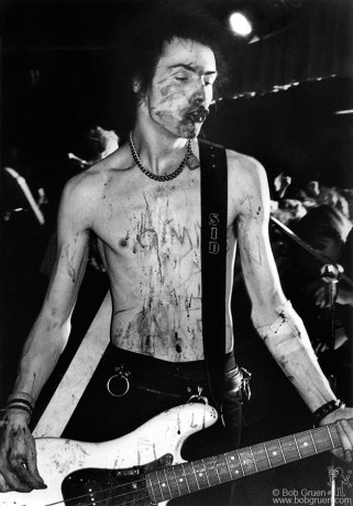Sid Vicious got involved with some girls in the front row who called to him to come close to them and when he did, they punched him in the nose, which caused it to bleed a lot. Sid seemed to enjoy this.
