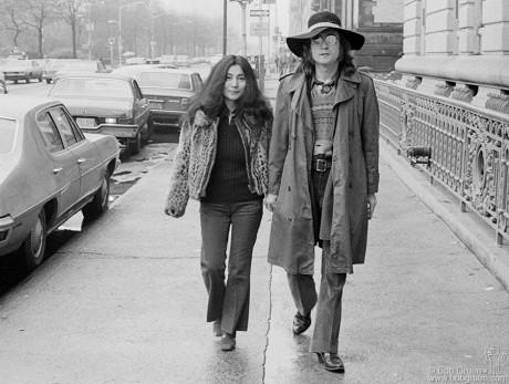 John Lennon & Yoko Ono, NYC - 1973