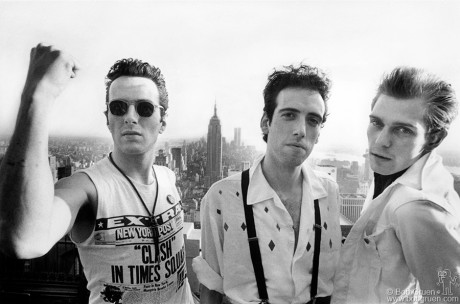 Joe Strummer, Mick Jones & Paul Simonon, NYC - 1981