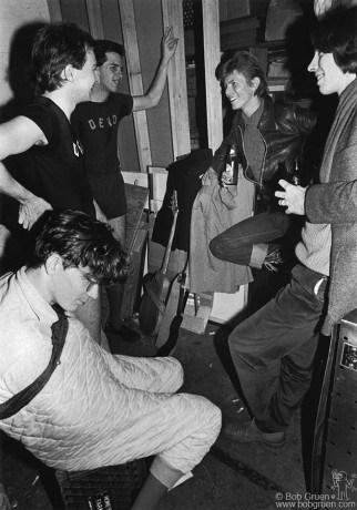 Devo and David Bowie, NYC - 1977