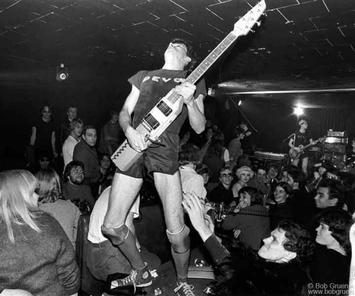 Devo, Max's Kansas City, NYC. November 1977. <P>Image #: R-476  © Bob Gruen