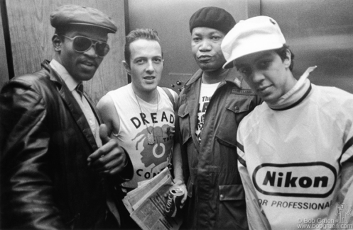 Joe Strummer, Fab Five Freddy, Raymond Jordan and Futura 2000, NJ - 1982