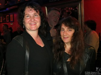 October 1 - New York City - At the closing celebration of the legendary Bleeker Street club Kenny's Castaways. Founder Pat Kenny's daughter Maria greeted Sharon Blythe, daughter of Art D'Lugoff who ran the Village Gate club across the street before it too closed some years ago.