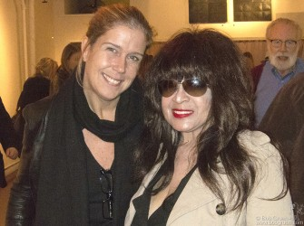 October 12- New York City - Ronnie Spector came to Salomon Arts Gallery to see Elizabeth's new work.