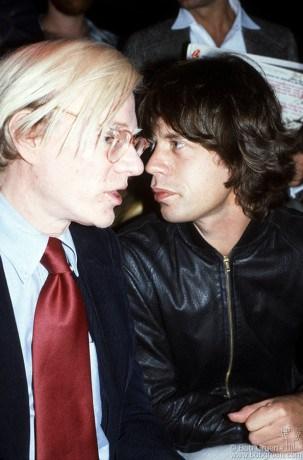Andy Warhol & Mick Jagger, NYC - 1977