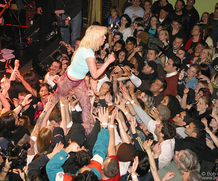 Courtney Love, Bowery Ballroom, NYC. March 18, 2004. <P>Image #: C-135  © Bob Gruen