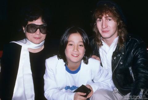 Yoko Ono, Sean Lennon and Julian Lennon, NYC - 1985