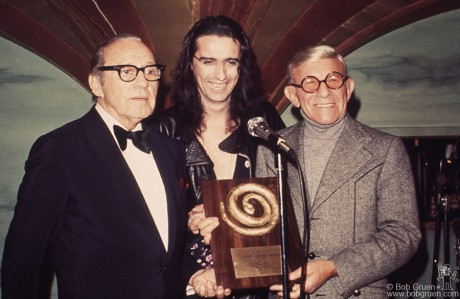 Jack Benny, Alice Cooper & George Burns, NYC - 1973