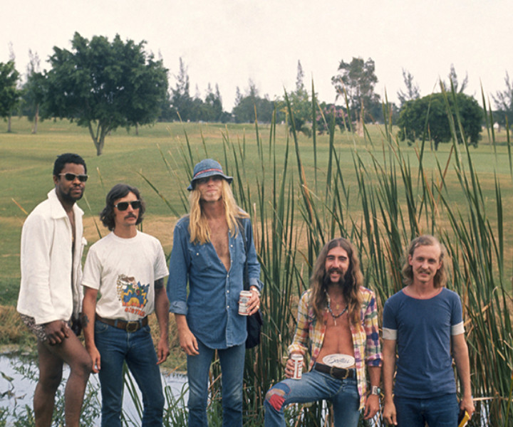 Allman Brothers, Fl. July 1972. <P>Image #: C-177  © Bob Gruen